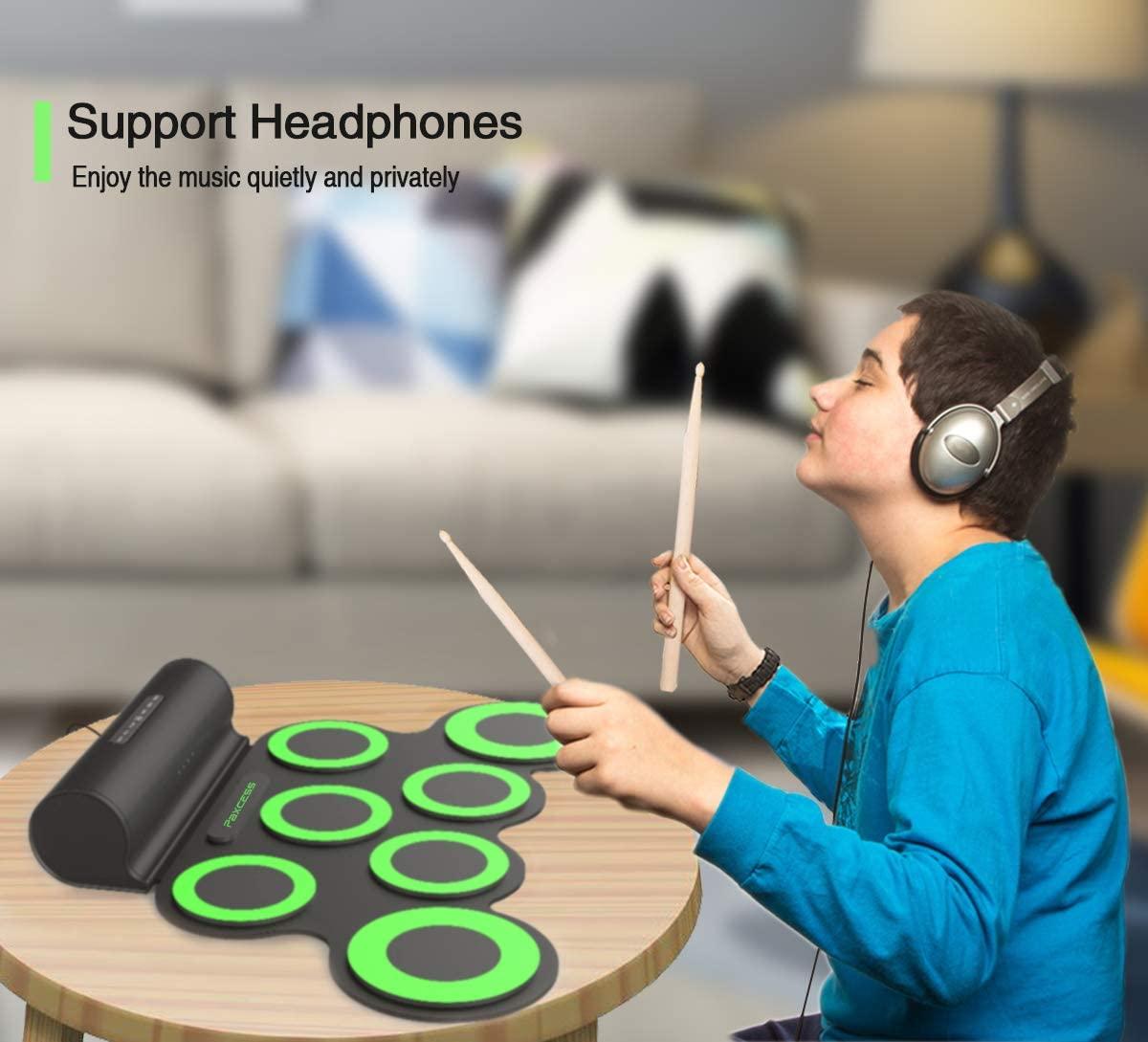 Electronic drum usage demonstration